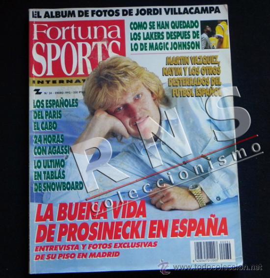 FORTUNA SPORTS 34 1992 REVISTA DEPORTE ÁLBUM FOTOS JORDI VILLACAMPA BALONCESTO FÚTBOL LAKERS ETC (Coleccionismo Deportivo - Revistas y Periódicos - otros Deportes)