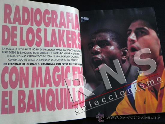 Coleccionismo deportivo: FORTUNA SPORTS 34 1992 REVISTA DEPORTE ÁLBUM FOTOS JORDI VILLACAMPA BALONCESTO FÚTBOL LAKERS ETC - Foto 3 - 35988379