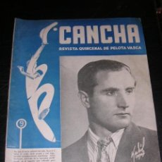 Coleccionismo deportivo: REVISTA CANCHA REVISTA QUINCENAL DE PELOTA VASCA NUM 46 , 1947 , ILUSTRADA, SEÑALES DE USO. Lote 36168196