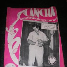 Coleccionismo deportivo: REVISTA CANCHA REVISTA QUINCENAL DE PELOTA VASCA NUM 92 , 1949 , ILUSTRADA, SEÑALES DE USO. Lote 36168282