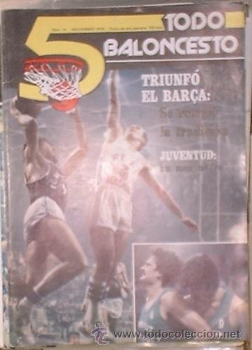 REVISTA 5 TODO BALONCESTO Nº 14 - NOVIEMBRE 1979. EDITA HERALDO DE ARAGÓN (Coleccionismo Deportivo - Revistas y Periódicos - otros Deportes)