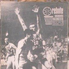 Coleccionismo deportivo: REVISTA REBOTE SOLAMENTE BALONCESTO. Nº 109 FEBRERO 1970. EDITADO EN BLANCO Y NEGRO.. Lote 36684381