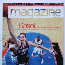 Coleccionismo deportivo: LOTE 5 MAGAZINE LA VANGUARDIA PAU GASOL - NBA SELECCION ESPAÑOLA ESPAÑA BALONCESTO MUNDIAL BASKET. Lote 36771730