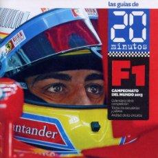 Coleccionismo deportivo: GUIA DE FORMULA 1 - F1 - CAMPEONATO DEL MUNDO 2013 - PERIODICO 20 MINUTOS. Lote 183004458