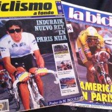 Coleccionismo deportivo: LOTE REVISTAS CICLISMO A FONDO Y LA BICI DE 1990 REVISTA CICLISTAS BICICLETAS INDURAIN. Lote 38221371