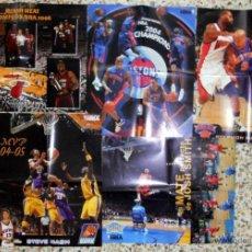 Coleccionismo deportivo: #2#LOTE LOT POSTER NBA BASKETBALL REVISTA OFICIAL MIAMI HEAT DETROIT PISTONS. Lote 39302745