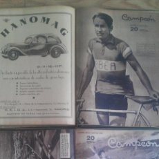 Coleccionismo deportivo: 1935-1936 REVISTA DE DEPORTES CAMPEÓN. 74 REVISTAS. II REPUBLICA. ESPECTACULAR!!!!!!!!. Lote 39349942