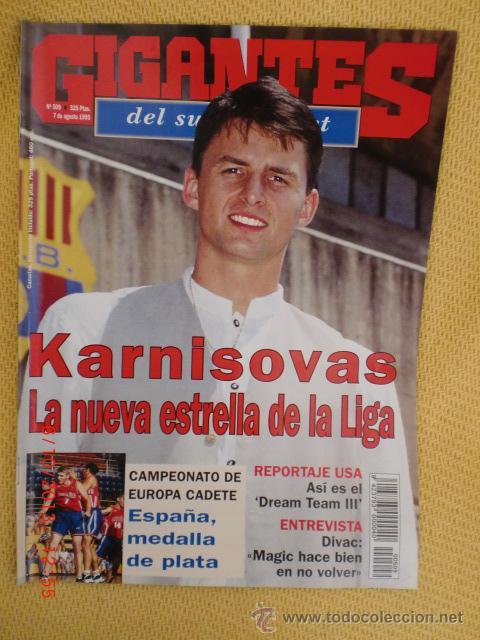 GIGANTES BASKET 509 AGOSTO 1995 - KARNISOVAS (Coleccionismo Deportivo - Revistas y Periódicos - otros Deportes)