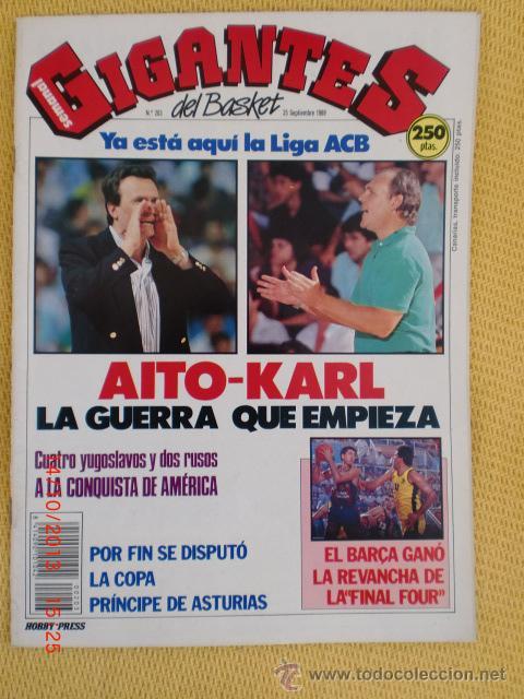 GIGANTES DEL BASKET. NO. 203 - SEPTIEMBRE 1989 (Coleccionismo Deportivo - Revistas y Periódicos - otros Deportes)