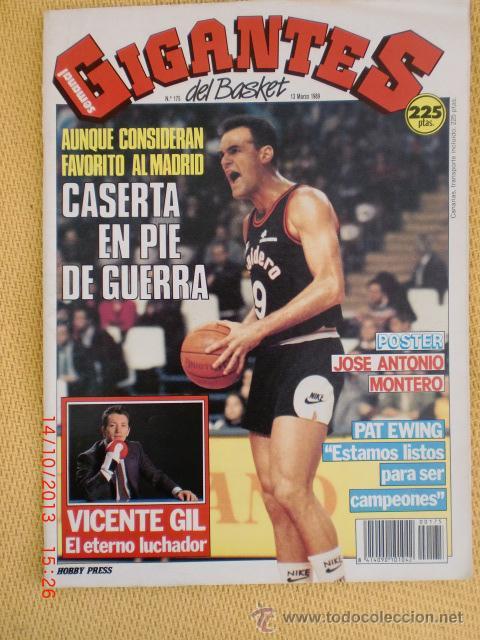 GIGANTES DEL BASKET. NO. 175 - MARZO 1989 (Coleccionismo Deportivo - Revistas y Periódicos - otros Deportes)