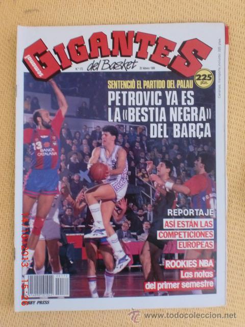GIGANTES DEL BASKET. NO. 172 - FEBRERO 1989 (Coleccionismo Deportivo - Revistas y Periódicos - otros Deportes)