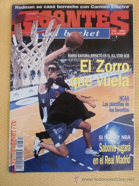 GIGANTES BASKET 682 - NOVIEMBRE 1998 (Coleccionismo Deportivo - Revistas y Periódicos - otros Deportes)