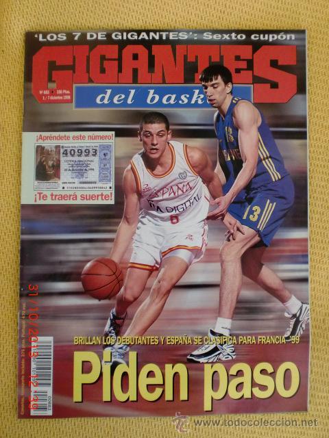 GIGANTES BASKET 683 - DICIEMBRE 1998 (Coleccionismo Deportivo - Revistas y Periódicos - otros Deportes)