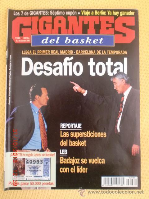 GIGANTES BASKET 684 - DICIEMBRE 1998 (Coleccionismo Deportivo - Revistas y Periódicos - otros Deportes)