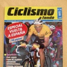 Coleccionismo deportivo: CICLISMO A FONDO Nº 85 - AÑO 1992 ESPECIAL VUELTA A ESPAÑA. Lote 39990770
