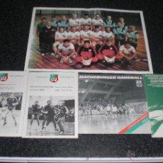 Coleccionismo deportivo: LOTE MAGDEBURGO (BALONMANO). POSTER, PROGRAMAS Y REVISTA. AÑOS 80.. Lote 40238243