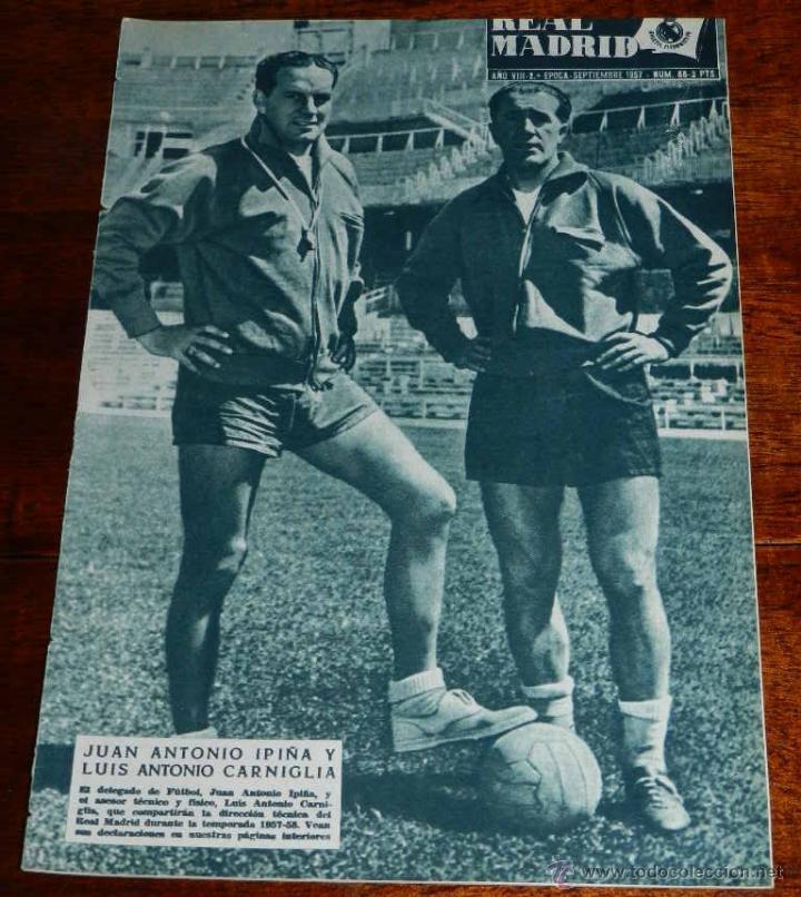 REVISTA DEL REAL MADRID Nº 86 - SEPTIEMBRE 1957 - 32 PAGINAS - MIDE 31 X 22 CMS. EXCELENTE ESTADO DE (Coleccionismo Deportivo - Revistas y Periódicos - otros Deportes)