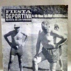 Coleccionismo deportivo: REVISTA FIESTA DEPORTIVA, Nº 23, JULIO 1960, REPORTAJE BALMANYA, ENTRENADOR VALENCIA CF. Lote 106049268