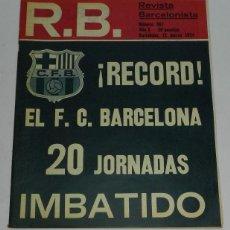 Coleccionismo deportivo: ANTIGUA REVISTA BARCELONISTA R.B - N. 467 - MARZO 1974 - MIDE 34.5 X 27 CMS - 24 PAG.. Lote 38288122