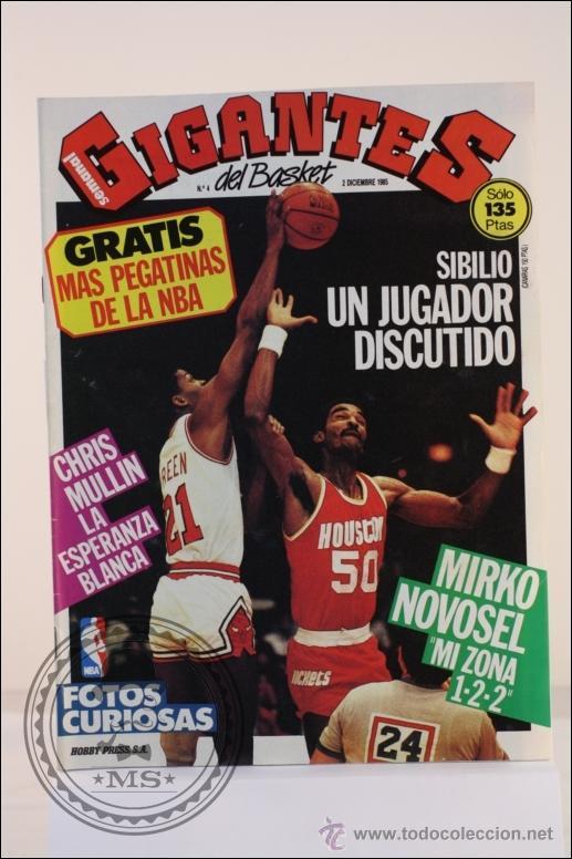 REVISTA GIGANTES DEL BASKET Nº 4 DICIEMBRE 1985 - SIBILIO - BALONCESTO - POSTER CORBALAN (Coleccionismo Deportivo - Revistas y Periódicos - otros Deportes)