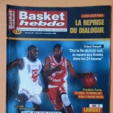 Coleccionismo deportivo: BASKET HEBDO. NUMÉRO 96. MERCREDI 4 NOVEMBRE 1998. LA SURPRISE DE LA PRO A - DIVERSOS AUTORES. Lote 38950133