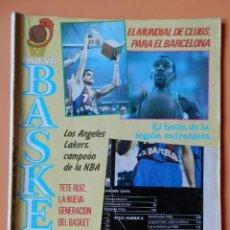 Coleccionismo deportivo: NUEVO BASKET. EL MUNDIAL DE CLUBS, PARA EL BARCELONA. JULIO/AGOSTO 1985. Nº 134-135 - DIVERSOS AUTOR. Lote 38950159