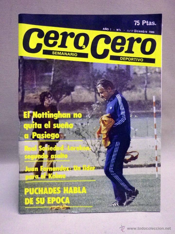 REVISTA DE DEPORTES, CERO A CERO, Nº 6, DICIEMBRE 1980 (Coleccionismo Deportivo - Revistas y Periódicos - otros Deportes)