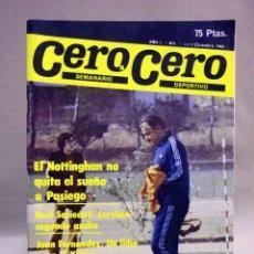 Coleccionismo deportivo: REVISTA DE DEPORTES, CERO A CERO, Nº 6, DICIEMBRE 1980. Lote 41375379
