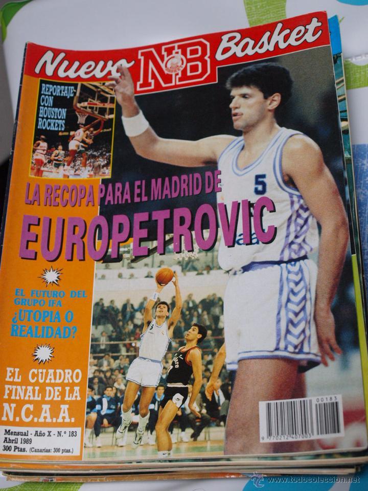 REVISTA BALONCESTO NUEVO BASKET 183 DRAZEN PETROVIC REAL MADRID CAMPEON RECOPA EUROPA (Coleccionismo Deportivo - Revistas y Periódicos - otros Deportes)