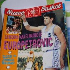 Coleccionismo deportivo: REVISTA BALONCESTO NUEVO BASKET 183 DRAZEN PETROVIC REAL MADRID CAMPEON RECOPA EUROPA. Lote 41608695
