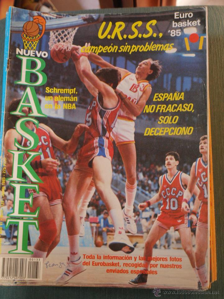 REVISTA BALONCESTO NUEVO BASKET 133 ESPECIAL EUROBASKET URSS CAMPEON JUNIO 1985 (Coleccionismo Deportivo - Revistas y Periódicos - otros Deportes)