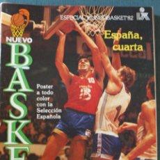 Coleccionismo deportivo: 77 - 78 REVISTA BALONCESTO NUEVO BASKET NÚMERO DOBLE EXTRA MUNDOBASKET CALI 1982. Lote 130069115
