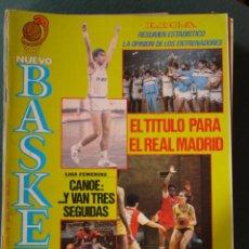 Coleccionismo deportivo: 145 REVISTA BALONCESTO NUEVO BASKET 1986 REAL MADRID CAMPEÓN LIGA FERNANDO MARTIN . Lote 43448259
