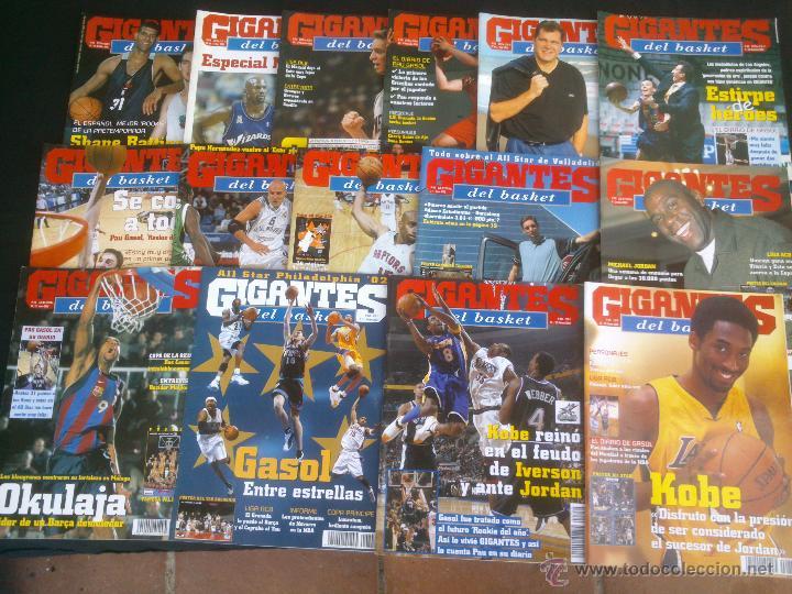 REVISTA GIGANTES DEL BASKET BALONCESTO.LOTE DE 15 REVISTAS ,AÑO 2001 (Coleccionismo Deportivo - Revistas y Periódicos - otros Deportes)