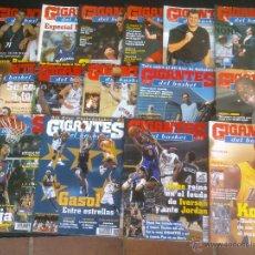 Coleccionismo deportivo: REVISTA GIGANTES DEL BASKET BALONCESTO.LOTE DE 15 REVISTAS ,AÑO 2001. Lote 41942057