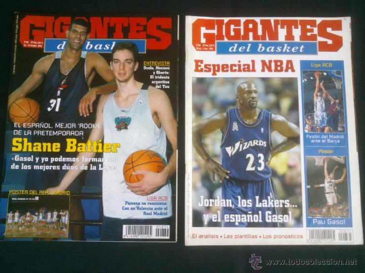 Coleccionismo deportivo: REVISTA GIGANTES DEL BASKET BALONCESTO.LOTE DE 15 REVISTAS ,AÑO 2001 - Foto 2 - 41942057