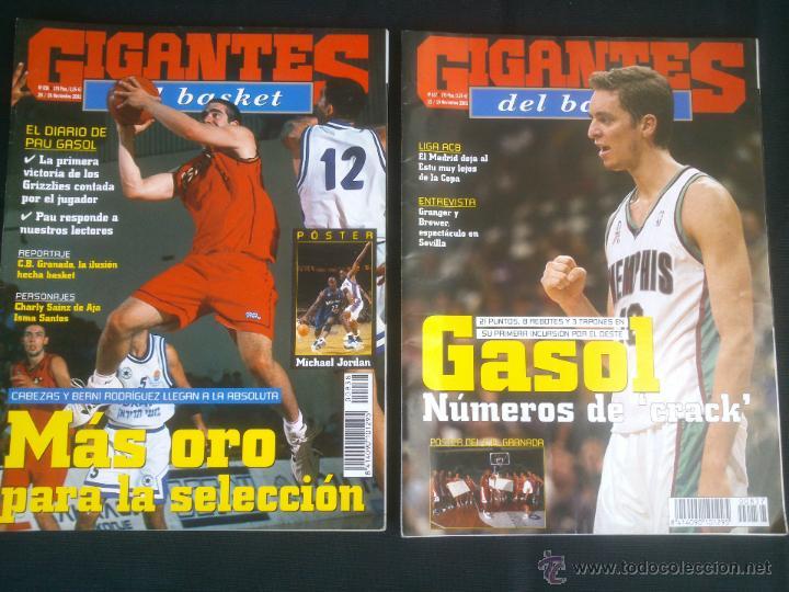 Coleccionismo deportivo: REVISTA GIGANTES DEL BASKET BALONCESTO.LOTE DE 15 REVISTAS ,AÑO 2001 - Foto 3 - 41942057