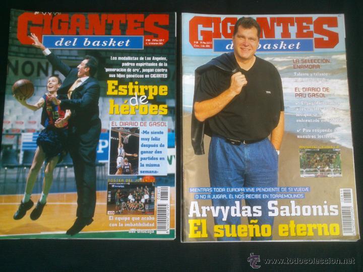Coleccionismo deportivo: REVISTA GIGANTES DEL BASKET BALONCESTO.LOTE DE 15 REVISTAS ,AÑO 2001 - Foto 4 - 41942057