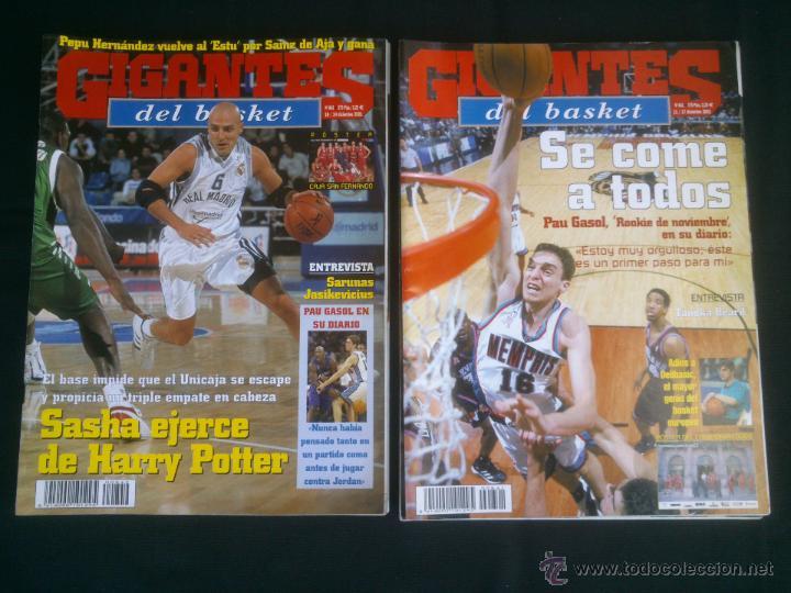 Coleccionismo deportivo: REVISTA GIGANTES DEL BASKET BALONCESTO.LOTE DE 15 REVISTAS ,AÑO 2001 - Foto 5 - 41942057