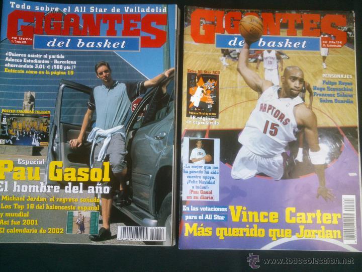 Coleccionismo deportivo: REVISTA GIGANTES DEL BASKET BALONCESTO.LOTE DE 15 REVISTAS ,AÑO 2001 - Foto 6 - 41942057