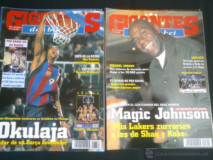 Coleccionismo deportivo: REVISTA GIGANTES DEL BASKET BALONCESTO.LOTE DE 15 REVISTAS ,AÑO 2001 - Foto 7 - 41942057