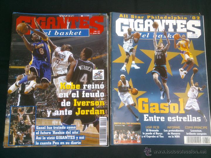 Coleccionismo deportivo: REVISTA GIGANTES DEL BASKET BALONCESTO.LOTE DE 15 REVISTAS ,AÑO 2001 - Foto 8 - 41942057