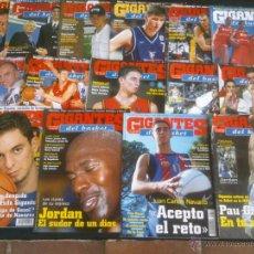 Coleccionismo deportivo: REVISTA GIGANTES DEL BASKET BALONCESTO.LOTE DE 15 REVISTAS ,AÑO 2001. Lote 41942441