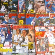 Coleccionismo deportivo: REVISTA GIGANTES DEL BASKET BALONCESTO.LOTE DE 15 REVISTAS ,AÑO 2000. Lote 41942814
