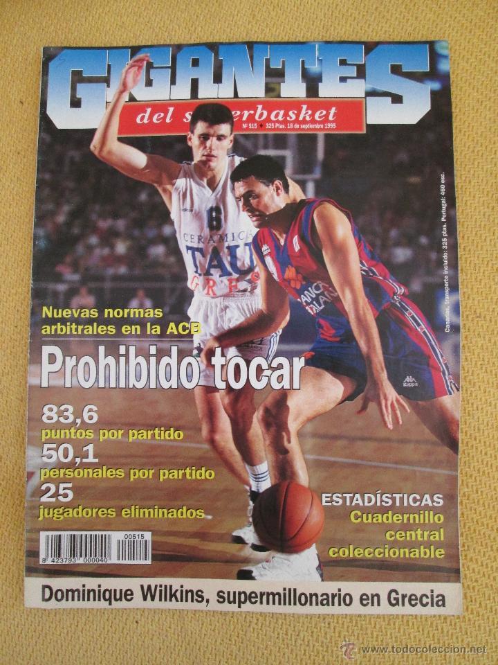 GIGANTES DEL BASKET. NO. 515 - SEPTIEMBRE - 1995 (Coleccionismo Deportivo - Revistas y Periódicos - otros Deportes)