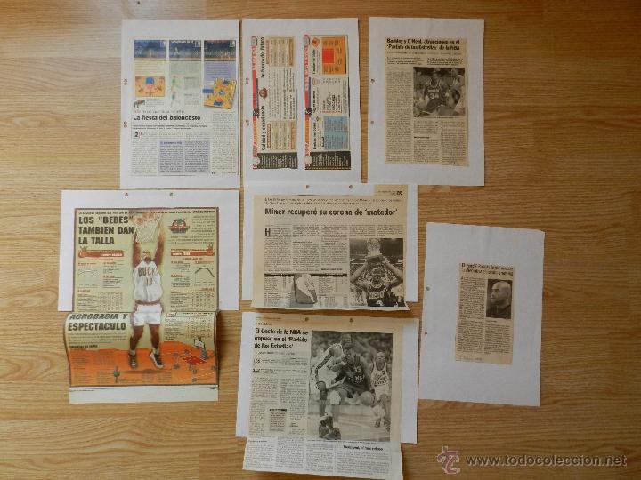 LOTE RECORTES ALL STAR WEEKEND NBA 1995 (Coleccionismo Deportivo - Revistas y Periódicos - otros Deportes)