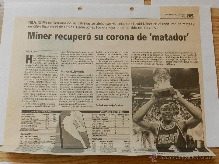 Coleccionismo deportivo: LOTE RECORTES ALL STAR WEEKEND NBA 1995 - Foto 3 - 42336396