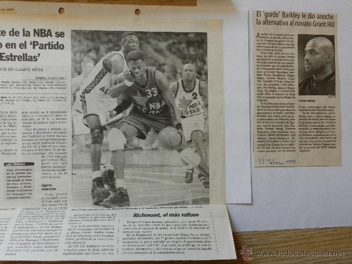 Coleccionismo deportivo: LOTE RECORTES ALL STAR WEEKEND NBA 1995 - Foto 5 - 42336396