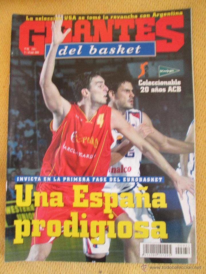 GIGANTES DEL BASKET. NO. 932 - SEPTIEMBRE - 2003 (Coleccionismo Deportivo - Revistas y Periódicos - otros Deportes)