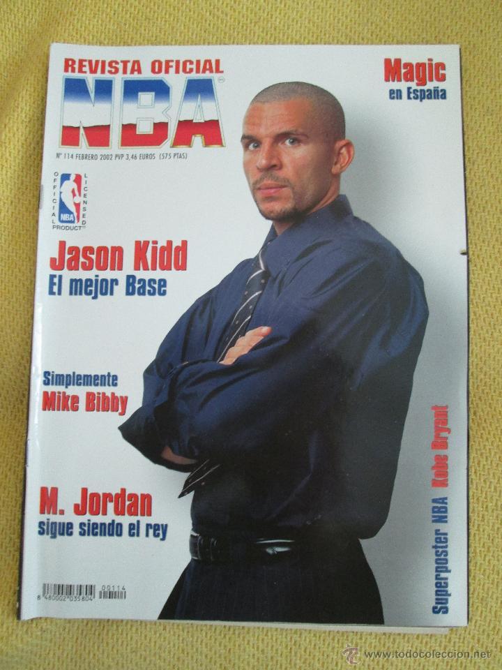 REVISTA OFICIAL NBA Nº 114 -2002 - KIDD (Coleccionismo Deportivo - Revistas y Periódicos - otros Deportes)